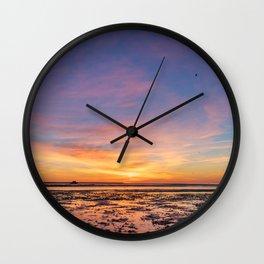 Cotton Candy Sunrise Wall Clock