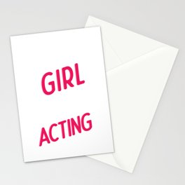 Theater Girl Theatre Acting Actor Actress Gift Stationery Cards