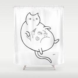 Fatty Catty Shower Curtain