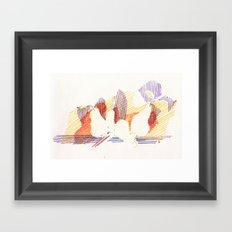 CRAYON LOVE - Shadows  Framed Art Print