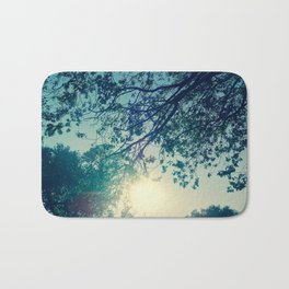Lost in the Trees:  Blue Bath Mat