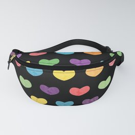 Colorful hearts II Fanny Pack