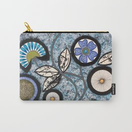 Lovely Flowers Blue Carry-All Pouch