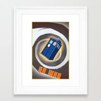 dr who Framed Art Prints featuring Dr Who by pHoran