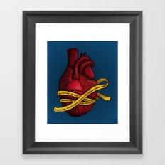 Heart of a Crime Scene Framed Art Print
