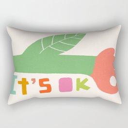 OK Flower. Positive Summer Vibes. Human Hand Rectangular Pillow