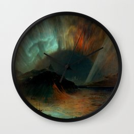 Aurora Borealis by Frederic Edwin Church Wall Clock