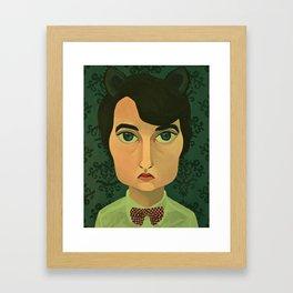 Jeff as a Sexy Kitty Framed Art Print