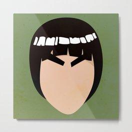 Rock Lee Simplistic Face Metal Print