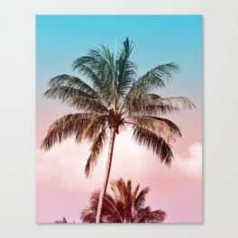 Rainbow Palm Tree II Canvas Print