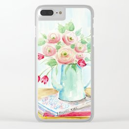 Tulips and French Enamelware Clear iPhone Case