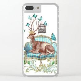 Deer me Clear iPhone Case