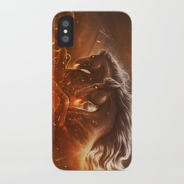 Fire with Horses iPhone Case