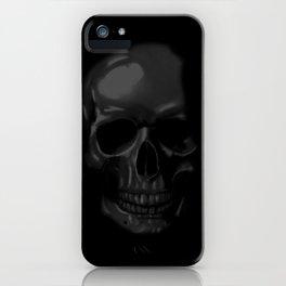 RIP Black Skull iPhone Case