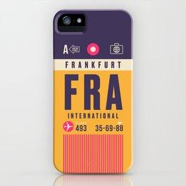Retro Airline Luggage Tag - FRA Frankfurt iPhone Case