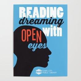 Open Eyes - Iowa City Public Library Poster