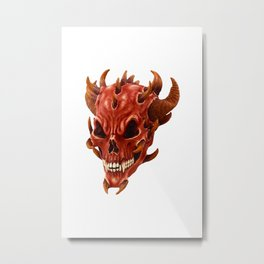 Face of the Demon Metal Print