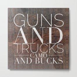 Guns and Trucks Metal Print