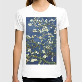 Almond Blossom - Vincent Van Gogh (dark blue) T-shirt
