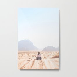 302. King of the world, Wadi Rum, Jordanie Metal Print