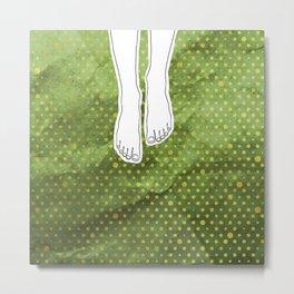 Barefoot Green Metal Print