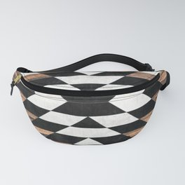 Urban Tribal Pattern No.13 - Aztec - Concrete and Wood Fanny Pack