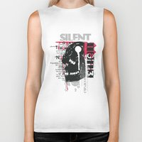 silent Biker Tanks featuring Silent by Tshirt-Factory