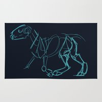 bull terrier Area & Throw Rugs featuring Bull Terrier by Tooel