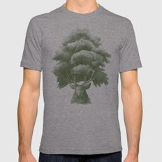 Old Growth  LARGE Mens Fitted Tee Tri-Grey