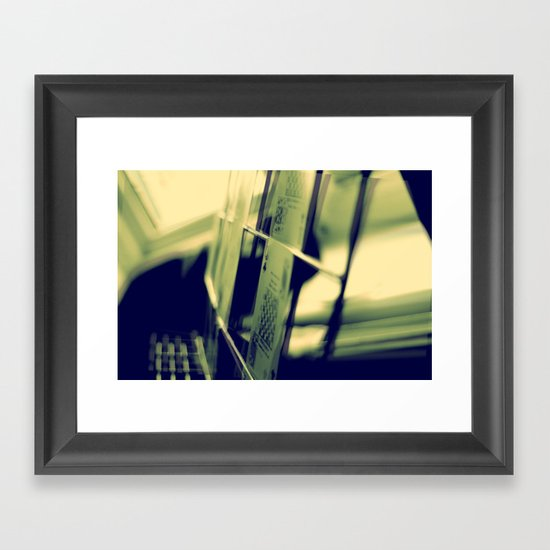 Green Card Framed Art Print
