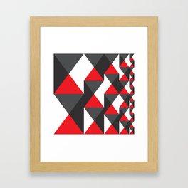 Geometric Pattern #20 (red triangles) Framed Art Print