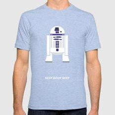 Star Wars Minimalism - R2D2 Mens Fitted Tee MEDIUM Tri-Blue
