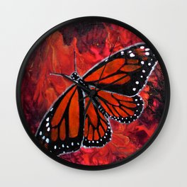 Winged Fire Wall Clock