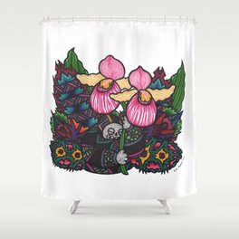 Capricious Beauty (Botanical Bliss) Shower Curtain