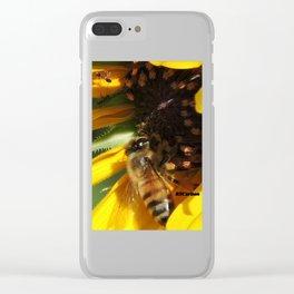 Desert Sunflower Cafeteria Clear iPhone Case