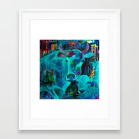 cows Framed Art Prints featuring Cows by Silke Powers