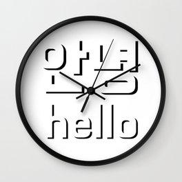 Annyeong Hello Korean Wall Clock