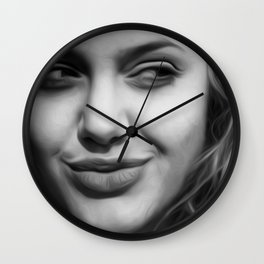 Angelina Jolie - Celebrity Art (Hot & Cute) Wall Clock