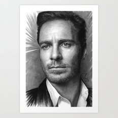 Michael Fassbender - Portrait Art Print