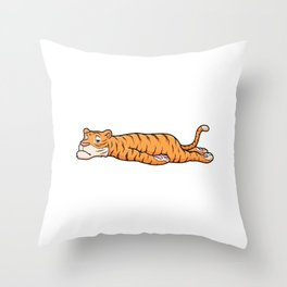 Tiger is Resting Throw Pillow