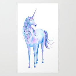 Watercolor Unicorn 3 Art Print