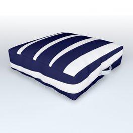 Blue- White- Stripe - Stripes - Marine - Maritime - Navy - Sea - Beach - Summer - Sailor 4 Outdoor Floor Cushion