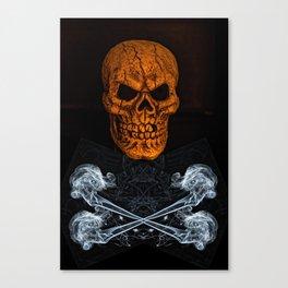 Skull And Crossbones 2 Canvas Print