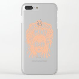 Open Your Mind in orange Clear iPhone Case