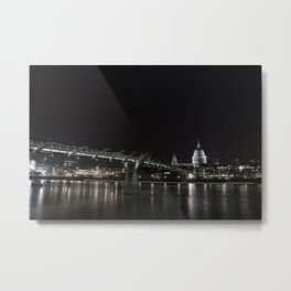 Millennium Bridge, London Metal Print