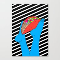 taco Canvas Prints featuring Taco Time by Tyler Spangler