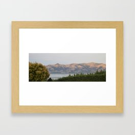 Sunrise Akaroa Hills Framed Art Print