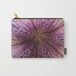 Modern Cottage Macro Purple White Petunia Flower Floral Art A408 Carry-All Pouch