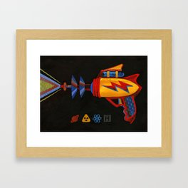 Cosmic Blaster Framed Art Print