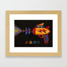 Cosmic Blaster Framed Art Print